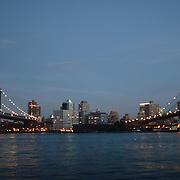 Manhattan Bridge and Brooklyn Bridge