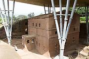 Africa, Ethiopia, Lalibela, Rock Hewn church of Bet Giyorgis, (St. George)