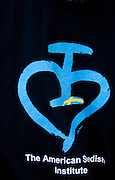 Shirt symbol for the American Swedish Institute. Svenskarnas Dag Swedish Heritage Day Minnehaha Park Minneapolis Minnesota USA