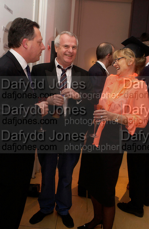 Richard Sharp, Alison Myners, ( Goldman Sachs) and Paul Myners.  Skools Rool, fundraising event  for the Royal Academy Schools.  Burlington St. London. 14 March 2005. ONE TIME USE ONLY - DO NOT ARCHIVE  © Copyright Photograph by Dafydd Jones 66 Stockwell Park Rd. London SW9 0DA Tel 020 7733 0108 www.dafjones.com