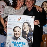 NLD/Amsterdam/20100310 - Presentatie van de 4de editie van het blad Helden, Frits Barend en dochter Barbara