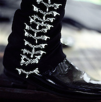 Detail of a Mariachi's pants and boot in Jalisco, Mexico