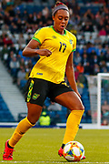 Jamaica's Allyson SWABY (AS Roma (ITA)) during the International Friendly match between Scotland Women and Jamaica Women at Hampden Park, Glasgow, United Kingdom on 28 May 2019.