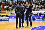 Massimo Romano, Raffaella Masciadri, Kathrin Ress<br /> Italia Italy - Repubblica Ceca Czech Republic<br /> FIBA Women's Eurobasket 2021 Qualifiers<br /> FIP2019 Femminile Senior<br /> Cagliari, 14/11/2019<br /> Foto L.Canu / Ciamillo-Castoria