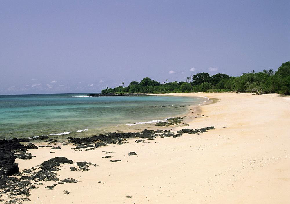 Tamarindo beach, on the north coast of Sao Tome island.