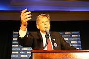 Congressman David Tuscano Virginia Senator Creigh Deeds celebrating his win over Terry McAuliffe to be the next Democratic nominee to run for Virginia Governor in Charlottesville, Va.