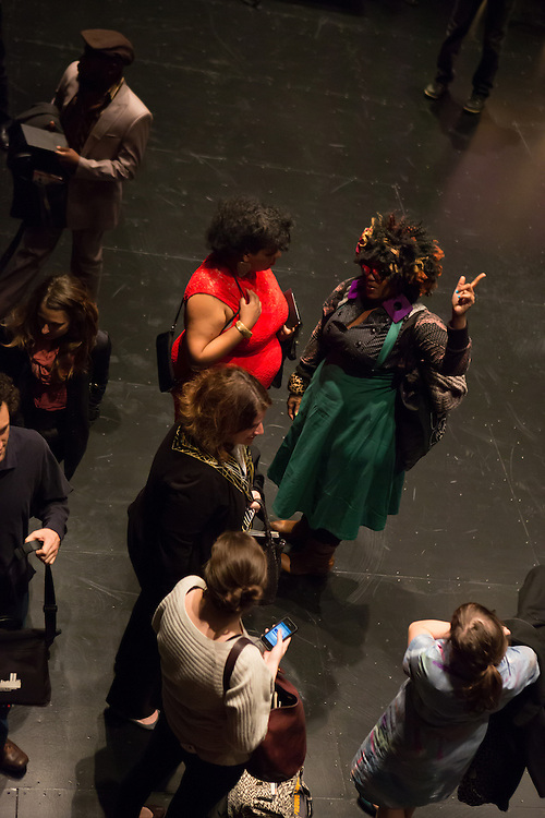 """Members of the audience after the performance of """"Dread Scott Decision"""" at BAM."""