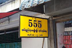 555 Sign, Thein Gyi Market