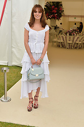 LADY VIOLET MANNERS at the Cartier Queen's Cup Polo final at Guard's Polo Club, Smiths Lawn, Windsor Great Park, Egham, Surrey on 14th June 2015