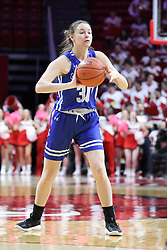 NORMAL, IL - February 10: Regan Wentland during a college women's basketball Play4Kay game between the ISU Redbirds and the Indiana State Sycamores on February 10 2019 at Redbird Arena in Normal, IL. (Photo by Alan Look)