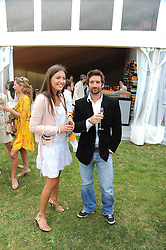 HENRY BRETT and AMANDA SHEPPARD at the 2008 Veuve Clicquot Gold Cup polo final at Cowdray Park Polo Club, Midhurst, West Sussex on 20th July 2008.<br /> <br /> NON EXCLUSIVE - WORLD RIGHTS