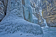 Maligne River though Maligne Canyon, Jasper National Park, Alberta, Canada