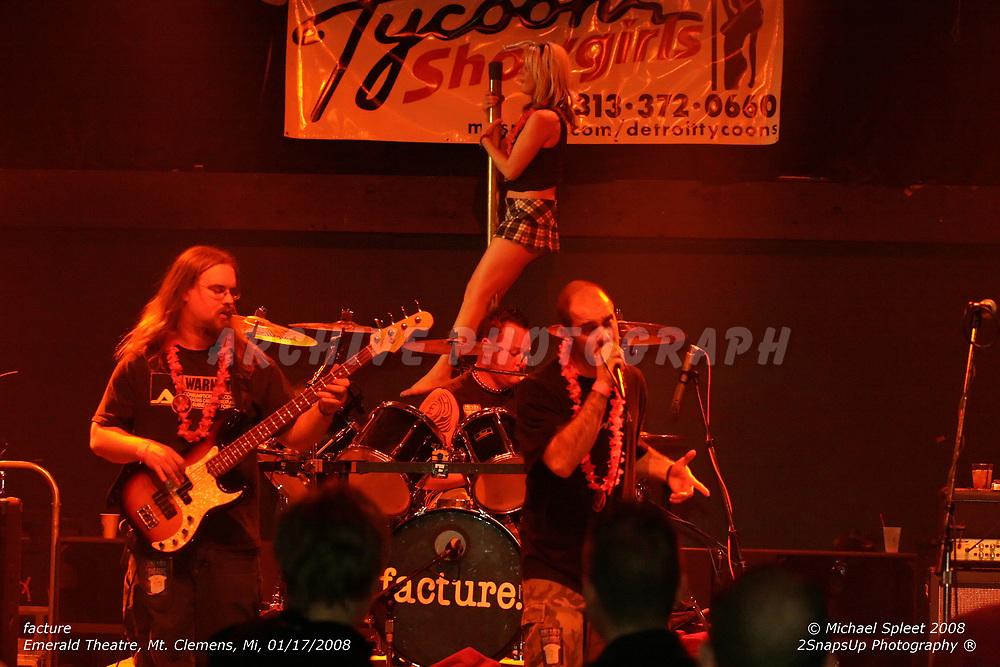 MT. CLEMENS, MI, THURSDAY, JAN. 17, 2008: facture,  at Emerald Theatre, Mt. Clemens, MI, 01/17/2008. (Image Credit: Michael Spleet / 2SnapsUp Photography)
