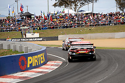 October 7, 2018 - Bathurst, NSW, U.S. - BATHURST, NSW - OCTOBER 07: Chaz Mostert / James Moffat in the Supercheap Auto Racing Ford Falcon across the top of the mountain at the Supercheap Auto Bathurst 1000 V8 Supercar Race at Mount Panorama Circuit in Bathurst, Australia on October 07, 2018 (Photo by Speed Media/Icon Sportswire) (Credit Image: © Speed Media/Icon SMI via ZUMA Press)
