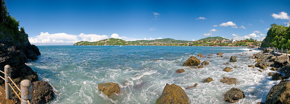 Rocky shore at Zihuatanejo, Mexico.