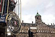 Madame Tussaud and the Royal Palace Dam Square in Amsterdam.