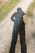 Me and my shadow in Washington Park Arboretum, Seattle, Washington, USA.