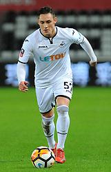 Connor Roberts of Swansea City runs with the ball - Mandatory by-line: Nizaam Jones/JMP - 06/02/2018 - FOOTBALL - Liberty Stadium - Swansea, Wales - Swansea City v Notts County - Emirates FA Cup fourth round proper