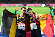 Kevin Borlee (BEL) win the Silver Medal and Jonathan Borlee (BEL) win the Bronze Medal in 400m Men during the European Championships 2018, at Olympic Stadium in Berlin, Germany, Day 4, on August 10, 2018 - Photo Photo Julien Crosnier / KMSP / ProSportsImages / DPPI
