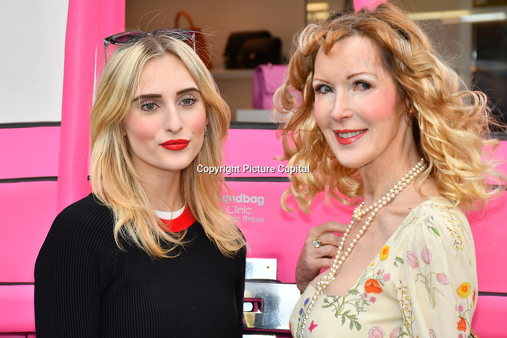 Isabel Decar Teret and Basia Briggs arrive at the Handbag Clinic - relaunch at 382 King's Road on 4 September 2019, London, UK.