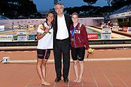 Simona Quadarella Italy ITA Gold medal, <br /> Paolo Barelli, <br /> Giulia Gabbrielleschi Fiamme Oro Nuotatori Pistoiesi Bronze Medal <br /> Women's 1500m Freestyle <br /> Roma 21/06/2019 Stadio del Nuoto Foro Italico <br /> FIN 56 Trofeo Sette Colli 2019 Internazionali d'Italia<br /> Photo Andrea Staccioli/Deepbluemedia/Insidefoto
