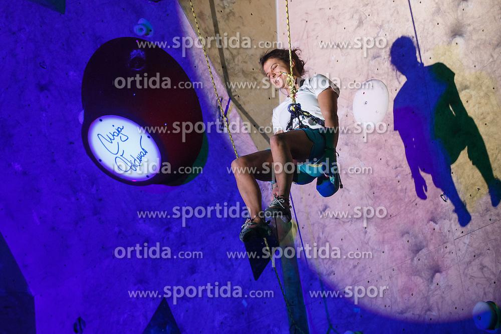 Retirement of one of the best Slovenian women climbers Maja Vidmar, Sport hall Poden, Skofja Loka, Slovenija, on April 3, 2016 in Skofja Loka, Slovenia. Photo by Grega Valancic / Sportida