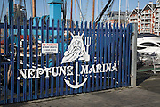 Neptune Marina. Urban redevelopment of docks, Ipswich Wet Dock, Suffolk, England