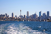 Sydney harbour with views of the city