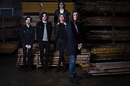 Stockport band Blossoms, pictured in a scaffolders' yard in the town. The guitar pop band have come fourth on the BBC Sound of 2016 list, which highlights the hottest new acts for the new year. The five members, who were all born in the same Stockport hospital, formed in 2013 and have honed their sound by rehearsing in their bassist's granddad's scaffolding yard take their name from a local pub. The group are comprised of: Tom Ogden, vocals, Charlie Salt, bass, Josh Dewhurst , lead guitar, Joe Donovan, drums and Myles Kellock, keyboards.