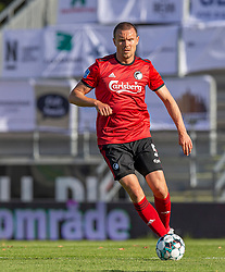 Andreas Bjelland (FC København) under kampen i 3F Superligaen mellem Lyngby Boldklub og FC København den 1. juni 2020 på Lyngby Stadion (Foto: Claus Birch).