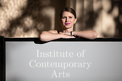 © Licensed to London News Pictures. 01/10/2018. London, UK. American whistleblower Chelsea Manning poses for photos ahead of a public talk as guest of honour at the Institute of Contemporary Arts annual dinner. Photo credit : Tom Nicholson/LNP
