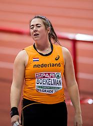 03-02-2017  SRB: European Athletics Championships indoor day 1, Belgrade<br /> In een lege Kombank Arena wordt de eerste dag van het Europees Kampioenschap gehouden / Melissa Boekelman weet zich niet te plaatsen voor de finale