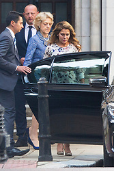 © Licensed to London News Pictures. 31/07/2019. London, UK. Princess Haya Bint Al Hussein leaves the High Court in London where she is currently in dispute with her husband, Sheik Mohammed bin Rashid Al Maktoum, following the breakdown of their marriage.  Photo credit: George Cracknell Wright/LNP