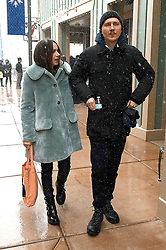 Paul Dano strolls in the snow with girlfriend Zoe Kazan at Sundance. The couple were spotted arm in arm as they promoted their film at the festival. 22 Jan 2018 Pictured: Paul Dano, Zoe Kazan. Photo credit: Atlantic Images/ MEGA TheMegaAgency.com +1 888 505 6342