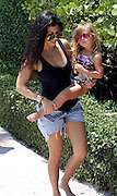 May 3, 2016 - Miami, FL, United States - <br /> <br /> Kourtney Kardashian and her daughter Penelope Disick walk on the beach on May 3 2016 in Miami, Florida  <br /> ©Exclusivepix Media