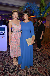 Left to right, ASHLEY JAMES and DAWN O'PORTER at the WGSN Global Fashion Awards 2015 held at The Park Lane Hotel, Piccadilly, London on 14th May 2015.
