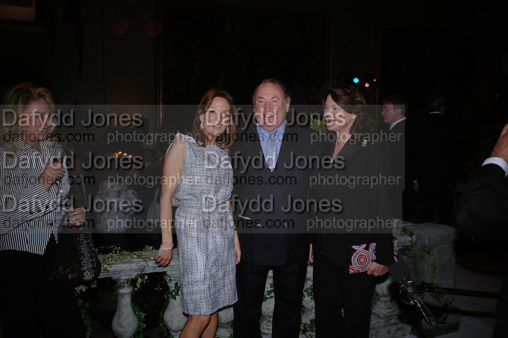 Emily Oppenheimer and Mrs. and Mrs. Anthony Oppenheimer. De Beers host party to launch  their new Radiance Collection at the Victoria & Albert Museum on May 17, 2005 in London, England. ONE TIME USE ONLY - DO NOT ARCHIVE  © Copyright Photograph by Dafydd Jones 66 Stockwell Park Rd. London SW9 0DA Tel 020 7733 0108 www.dafjones.com