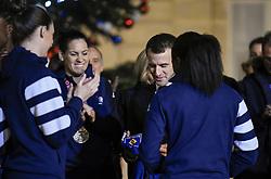 December 17, 2018 - Paris, France - Emmanuel Macron ( president de la Republique ) - Roxana Maracineanu ( ministre des sports ) - Brigitte Macron - Equipe Feminine de Handball France (Credit Image: © Panoramic via ZUMA Press)