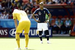June 16, 2018 - Kazan, Kazan, Russia - Kylian Mbappe of France, during the 2018 FIFA World Cup Russia group C match between France and Australia at Kazan Arena on June 16, 2018 in Kazan, Russia. (Credit Image: © Mehdi Taamallah/NurPhoto via ZUMA Press)