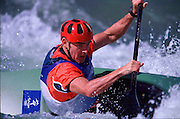 © 2000 All Rights Reserved - Peter Spurrier Sports Photo. K1  Slalom Canoe - Sydney Olympics 2000 - Penrith Lakes, NSW. ..First run 19th Sept 2000  Ian Wiley - Ireland. [Mandatory Credit. Peter Spurrier:Intersport Images]