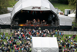 View of the main stage and festival from the castle tower, the Connect festival in Inveraray.<br /> ©Pic : Michael Schofield.