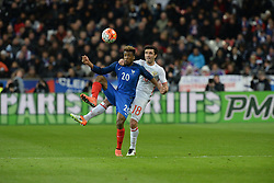 29.03.2016, Stade de France, St. Denis, FRA, Testspiel, Frankreich vs Russland, im Bild coman kingsley, zhirkov yury // during the International Friendly Football Match between France and Russia at the Stade de France in St. Denis, France on 2016/03/29. EXPA Pictures © 2016, PhotoCredit: EXPA/ Pressesports/ Jerome Prevost<br /> <br /> *****ATTENTION - for AUT, SLO, CRO, SRB, BIH, MAZ, POL only*****