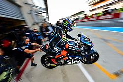 May 18, 2018 - Le Mans, France - 42 FRANCESCO BAGNAIA (ITA) SKY RACING TEAM VR46 (ITA) KALEX MOTO2 (Credit Image: © Panoramic via ZUMA Press)