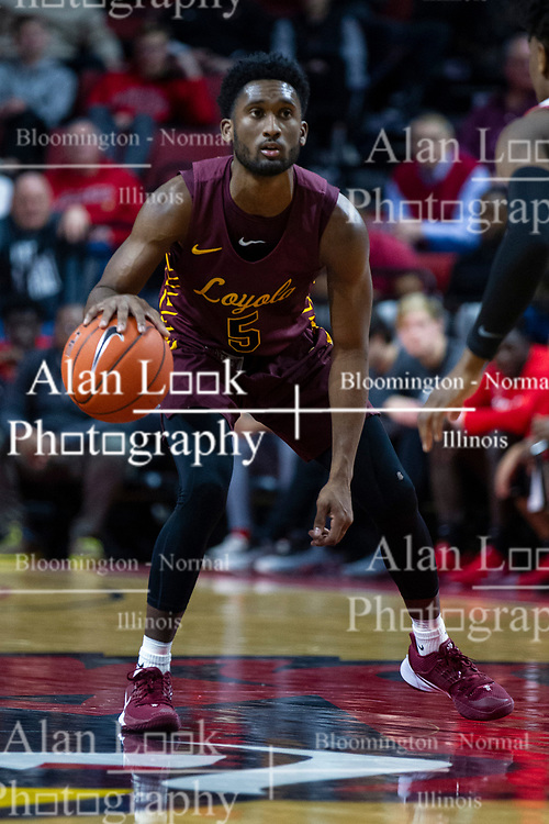 NORMAL, IL - January 19: Keith Clemons during a college basketball game between the ISU Redbirds and the Loyola University Chicago Ramblers on January 19 2020 at Redbird Arena in Normal, IL. (Photo by Alan Look)