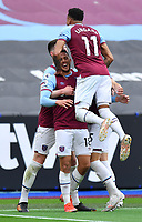 Football - 2020 / 2021 Premier League - Final Round - West ham United vs Southampton - London Stadium<br /> <br /> West Ham United's Pablo Fornals celebrates scoring his side's second goal with Jesse Lingard and Declan Rice.<br /> <br /> COLORSPORT/ASHLEY WESTERN