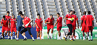 20100817: BRAGA, PORTUGAL - Sevilla FC training session before UEFA Champions League 2010/2011 Play-off match against SC Braga. In picture: Sevilla players including Luis Fabiano and Jesus Navas (center). PHOTO: CITYFILES