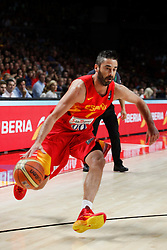 10.09.2014, Palacio de los deportes, Madrid, ESP, FIBA WM, Frankreich vs Spanien, Viertelfinale, im Bild Spain´s Navarro // during FIBA Basketball World Cup Spain 2014 Quarter-Final match between France and Spain at the Palacio de los deportes in Madrid, Spain on 2014/09/10. EXPA Pictures © 2014, PhotoCredit: EXPA/ Alterphotos/ Victor Blanco<br /> <br /> *****ATTENTION - OUT of ESP, SUI*****