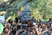 Thousands of people gathered to support the black teenagers who had been charged with attempted murder in the beating of a white classmate. The freedom March for the Jena 6 in Jena Louisiana lead by Rev Al Sharpton and radio pesonality Michael Baisden gathered over 15,000 supporters.(photo/Suzi Altman)