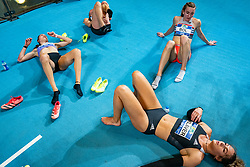Eveline Saalberg, Eva Hovenkamp, Lieke Klaver, Femke Bol after the 400 meter during AA Drink Dutch Athletics Championship Indoor on 21 February 2021 in Apeldoorn.