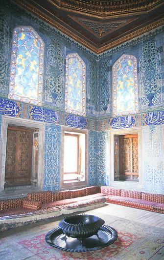 Interior room of Topkapi Palace Museum Istambul Turkey